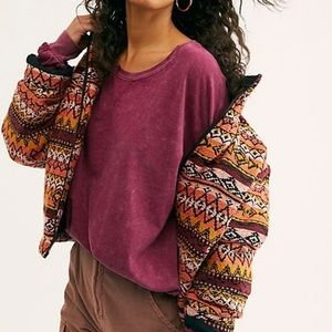 Free People 213 Long Sleeve Shirt - Sweet Myrtle
